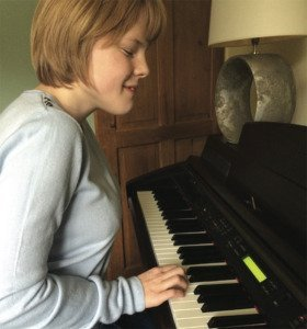 Ella on the Piano