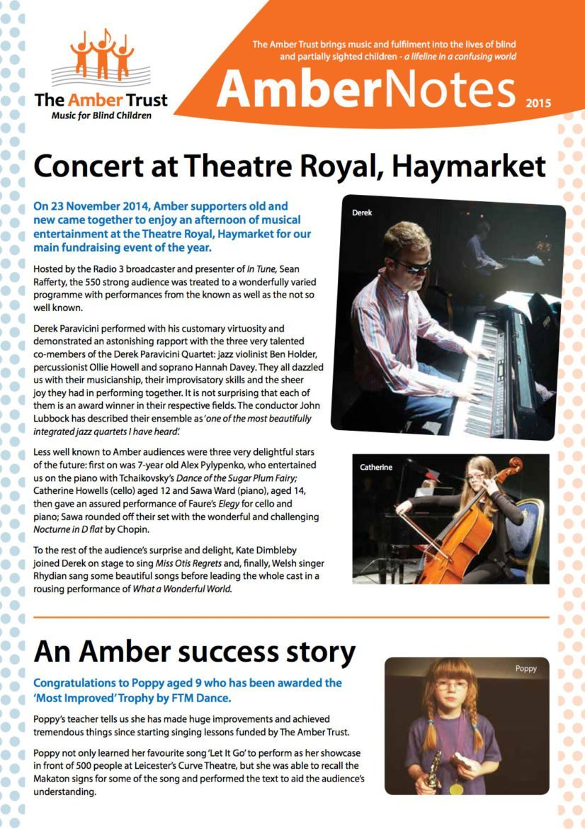 Amber Notes Newsletter Cover Picture