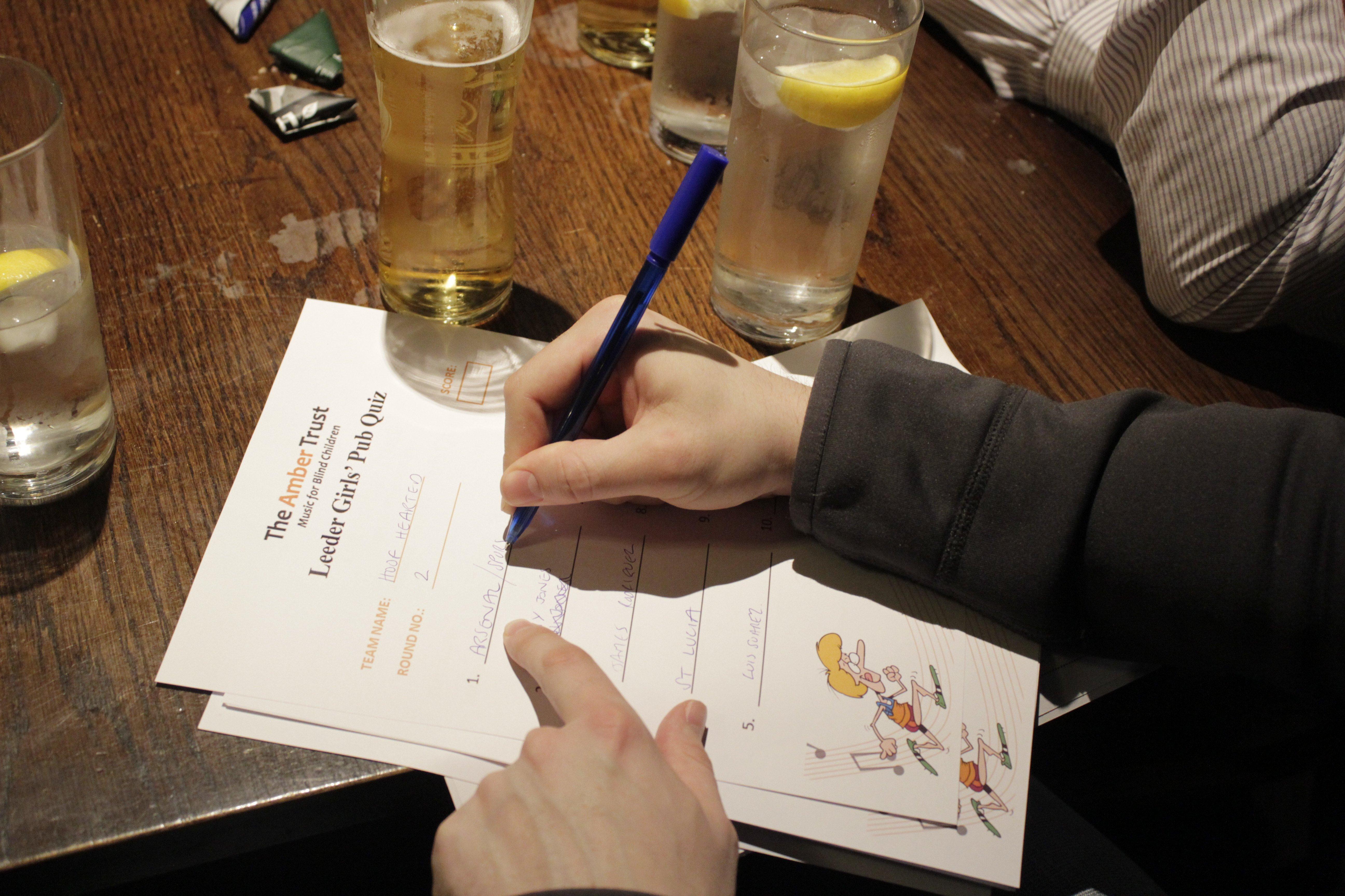Amber Trust Pub Quiz