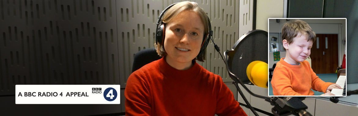 Cecily recording at BBC Radio 4