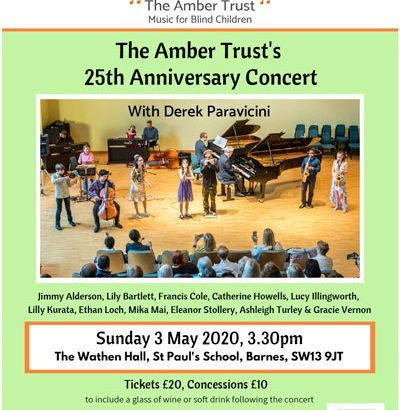 The Amber Trust 25th Anniversary Event Flyer