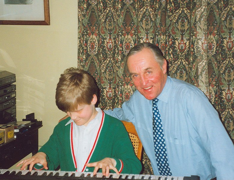 Lord Patrick and Derek at a keyboard